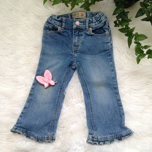 5/$25🎀 the children's place ruffle flare Jean
